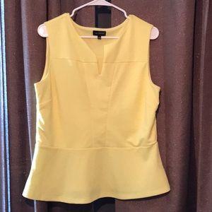 Yellow peplum shirt. The Limited. Large
